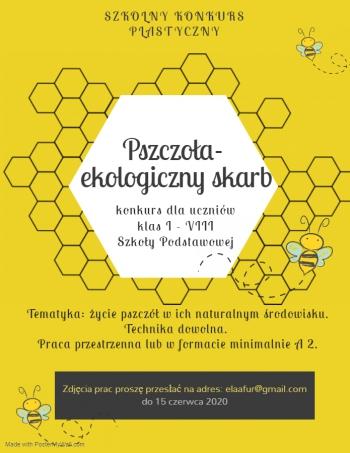 plakat konkurs pszczoła