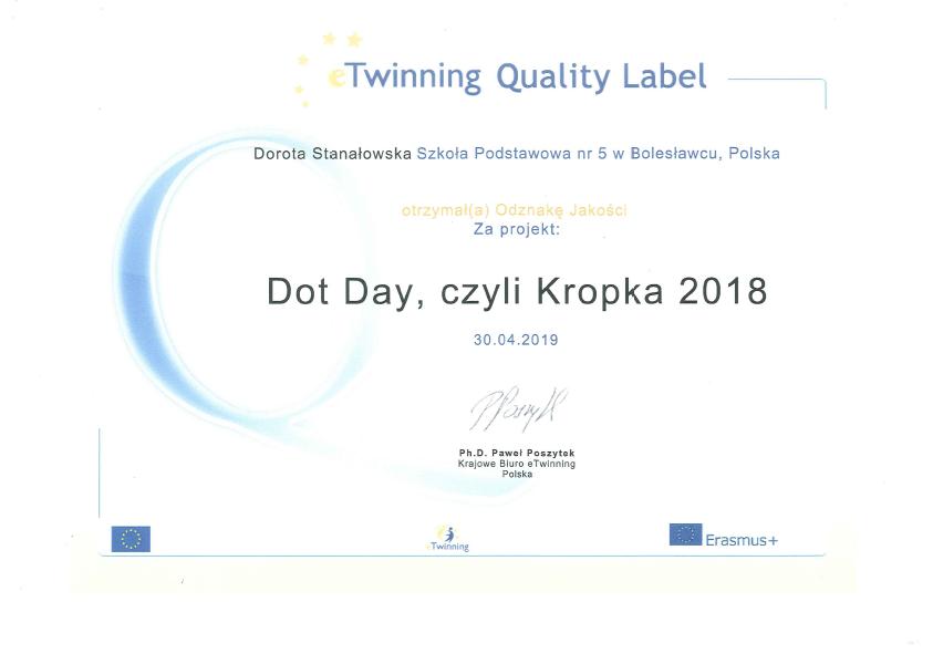 DOT DAY, CZYLI KROPKA 2018