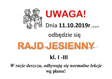 RAJD JESIENNY - 11.10.2019